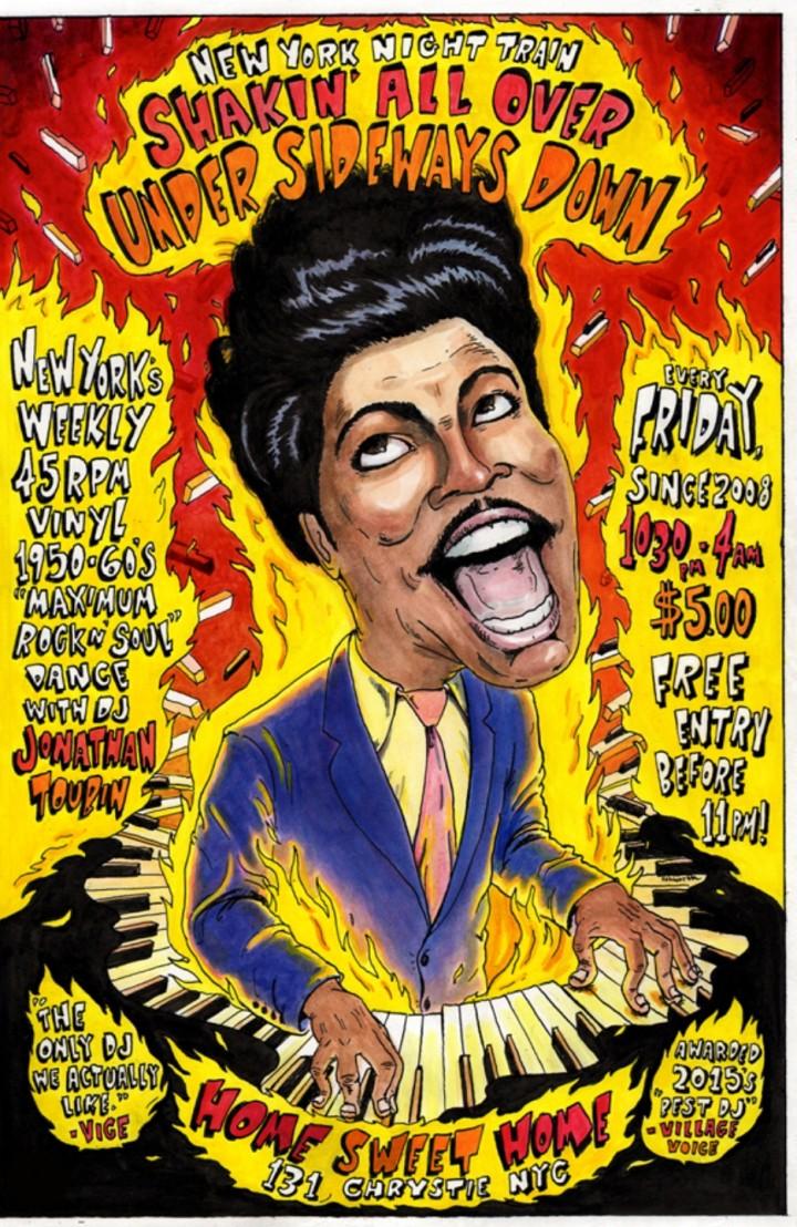 NY Night Train SHAKIN' ALL OVER 50s/60s Rock'n'Soul Vinyl Dance w/JONATHAN TOUBIN