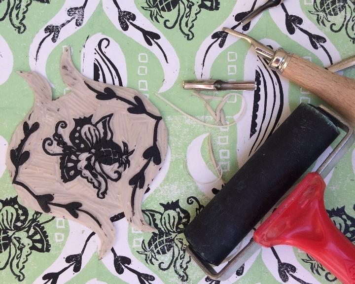 Exploring pattern - printmaking course