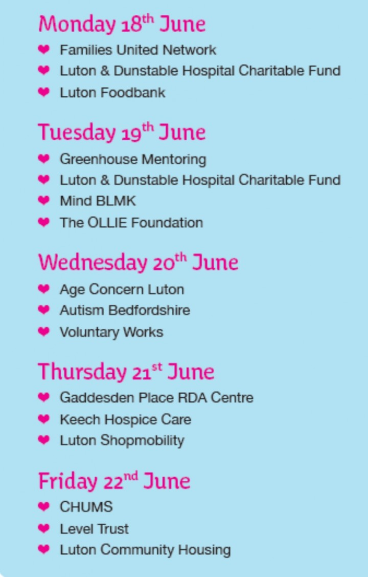 The Mall Luton supports Small Charity Week to