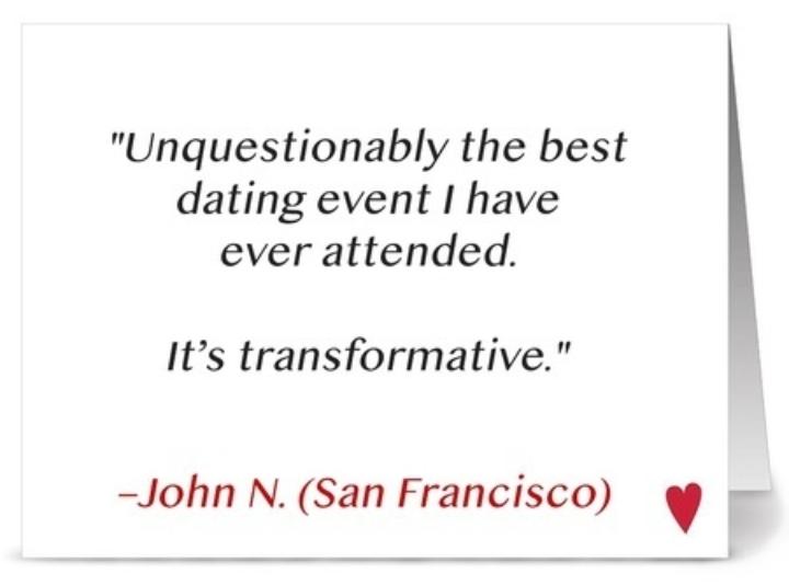 hastighed dating san francisco over 40 fødselsdagsgave til mand, du lige begyndte at danse