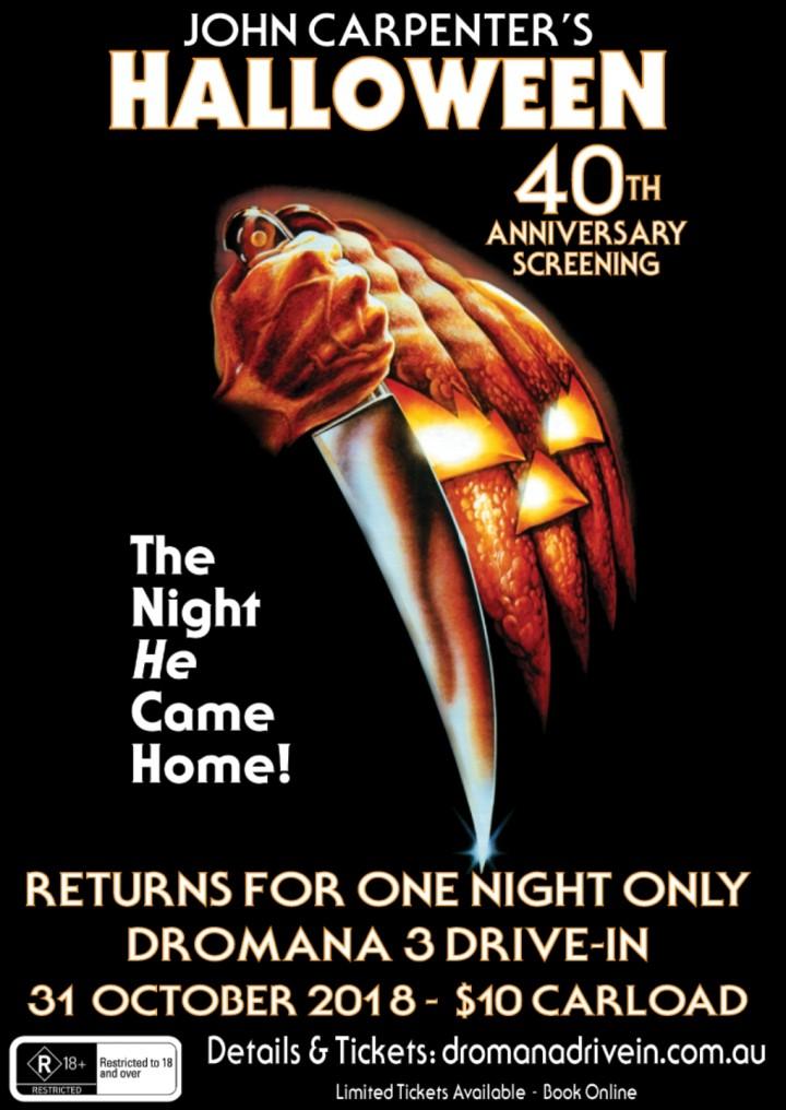 john carpenters halloween screening at dromana 3 drive in