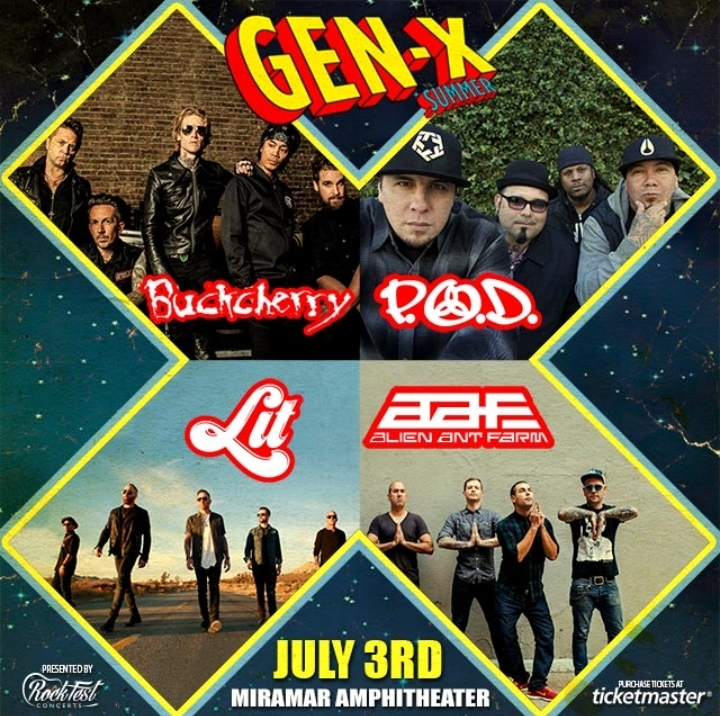 Loudwire's: Gen-X Summer Tour ft. Buckcherry