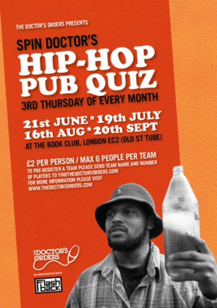 Spin Doctor's Hip-Hop Pub Quiz @ The Book Clu