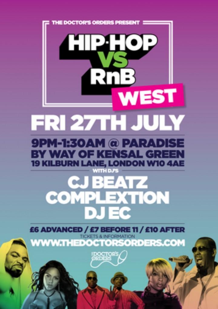 Hip-Hop vs RnB - Westside @ Paradise, West Lo