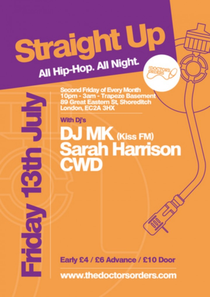 Straight Up: All HipHop. All Night @ Trapeze