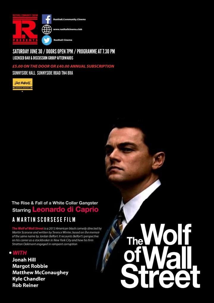 Film: The Wolf of Wall Street (2013; Cert. 18