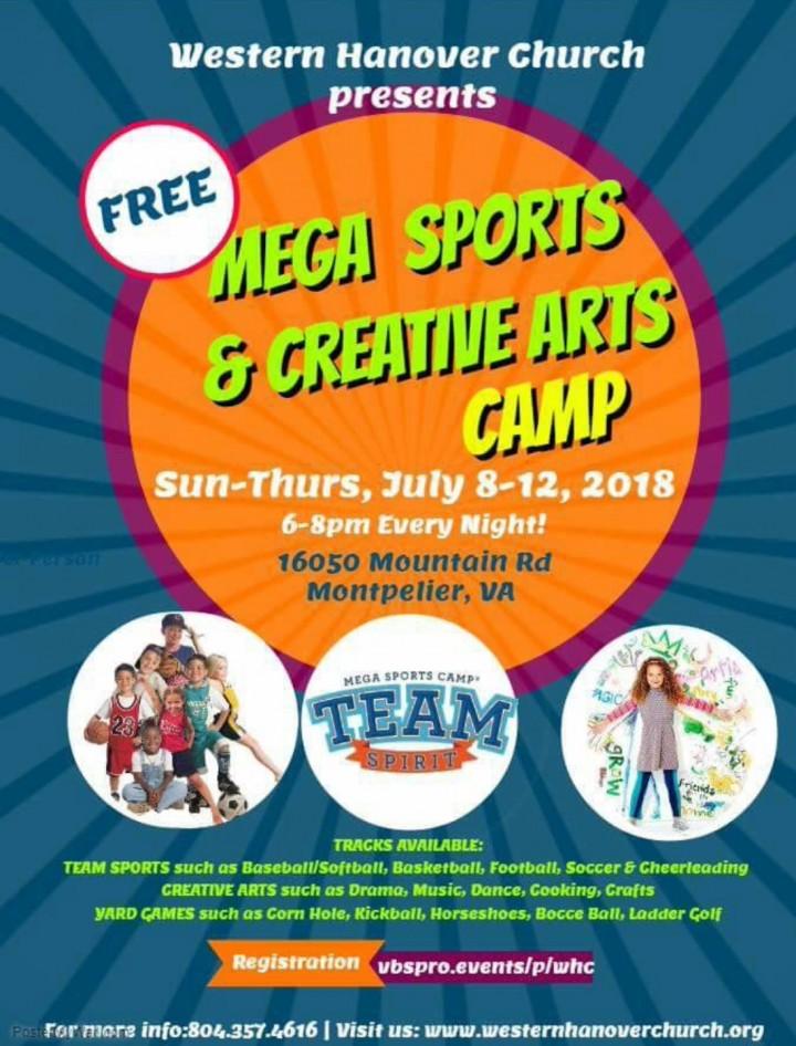 Mega Sports & Creative Arts Camp
