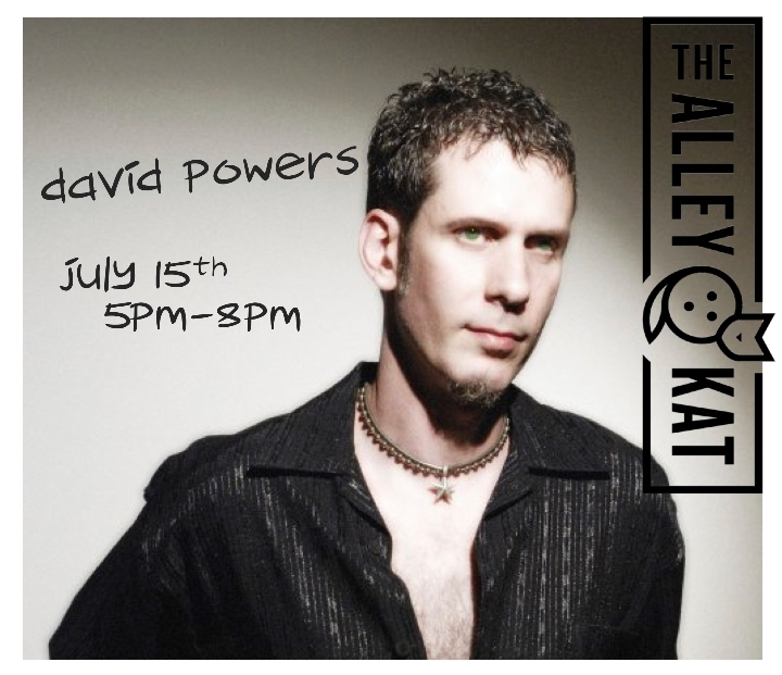 David Powers on the Patio at The Alley Kat!