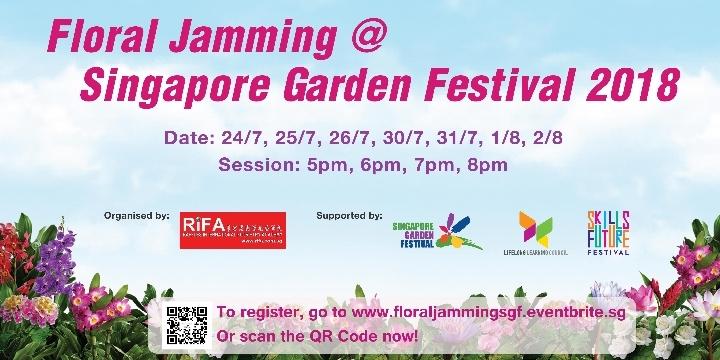 Floral Jamming @ Singapore Garden Festival