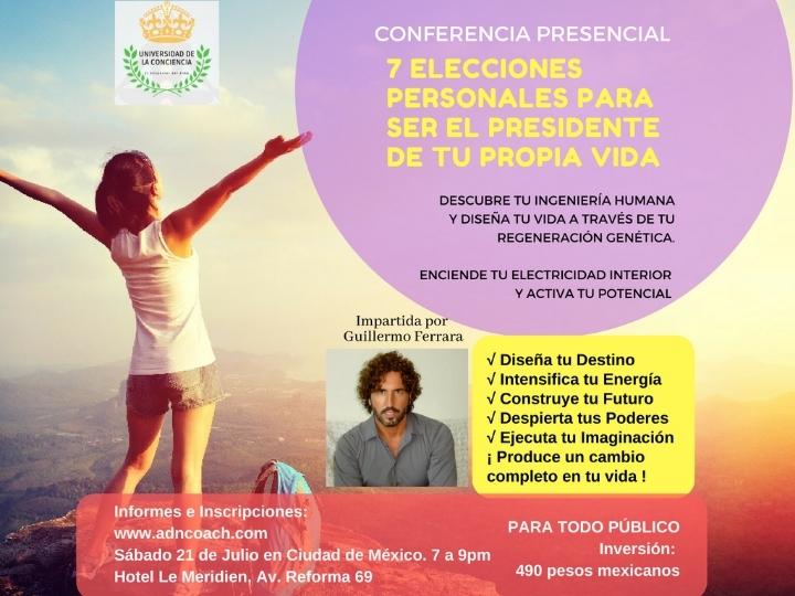 """CONFERENCIA: """"7 Elecciones personales para se"""