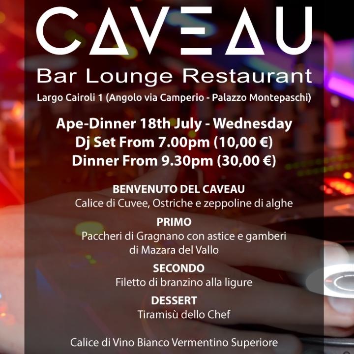 Ape Dinner al CAVEAU
