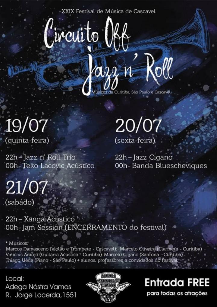Circuito Off - Jazz n' Roll na Adega! Entrada