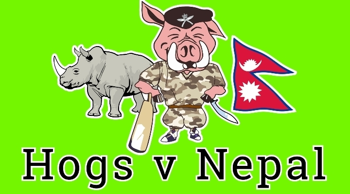 Hampshire Hogs Cricket Club take on the Nepal
