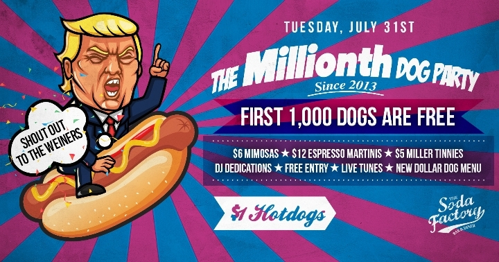 1000 Free Hotdogs at The Millionth Dog Party!