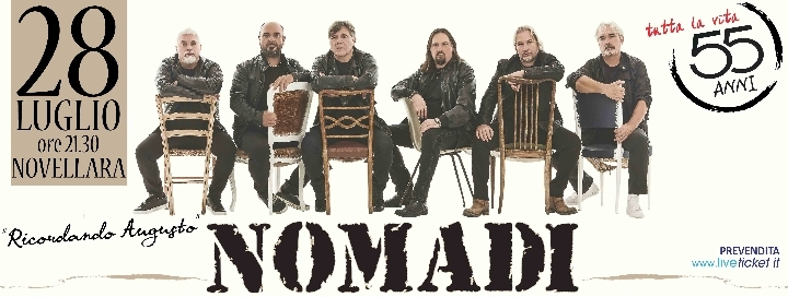 Nomadi in concerto a Novellara (RE)