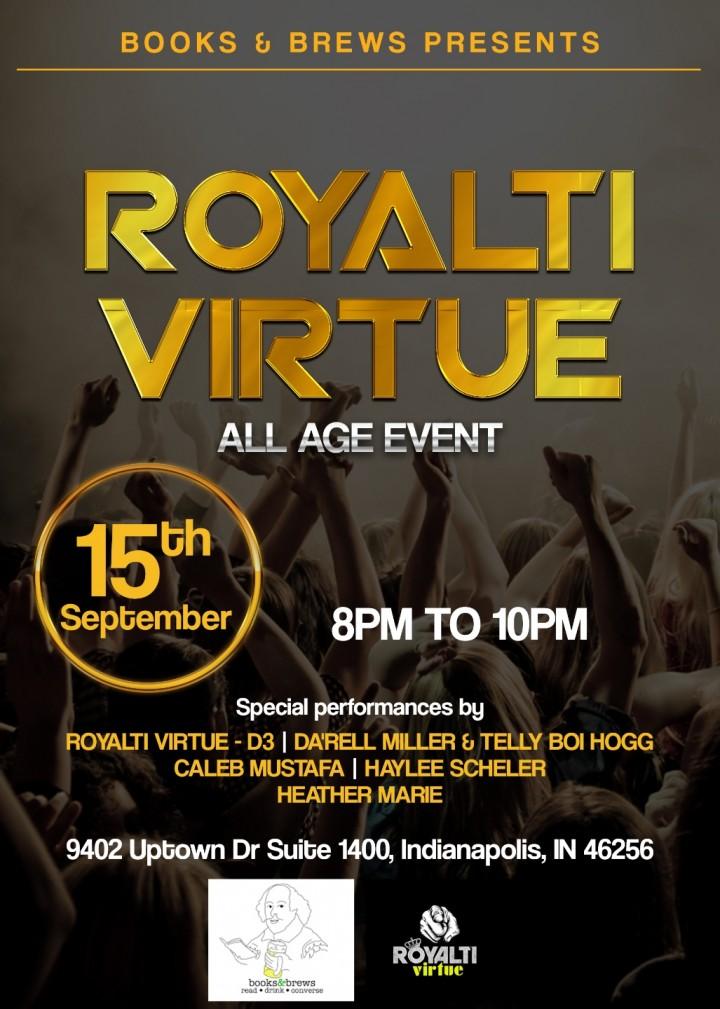 Books & Brews Presents Royalti Virtue