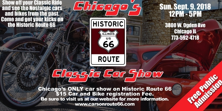 Chicagos Historic Route Classic Car Show SEP - Route 66 classic car show