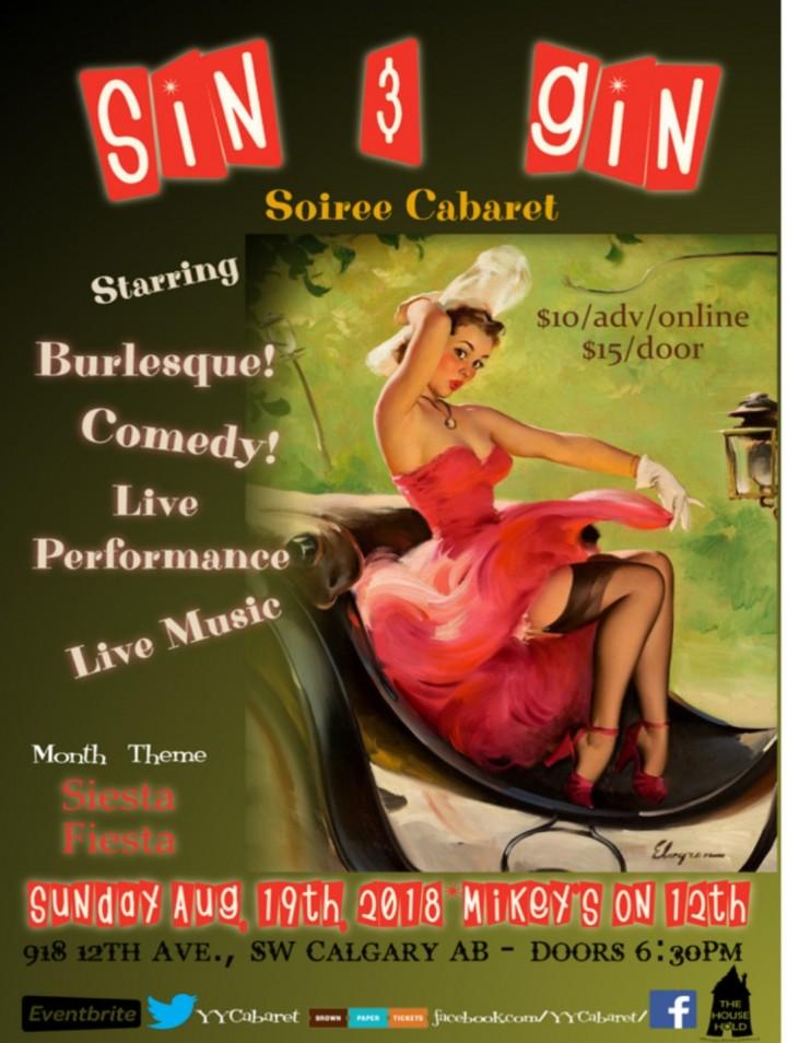 Sin & Gin Soiree Cabaret - Siesta Fiesta!