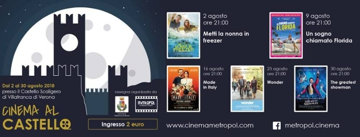 Cinema all'aperto a Villafranca di Verona