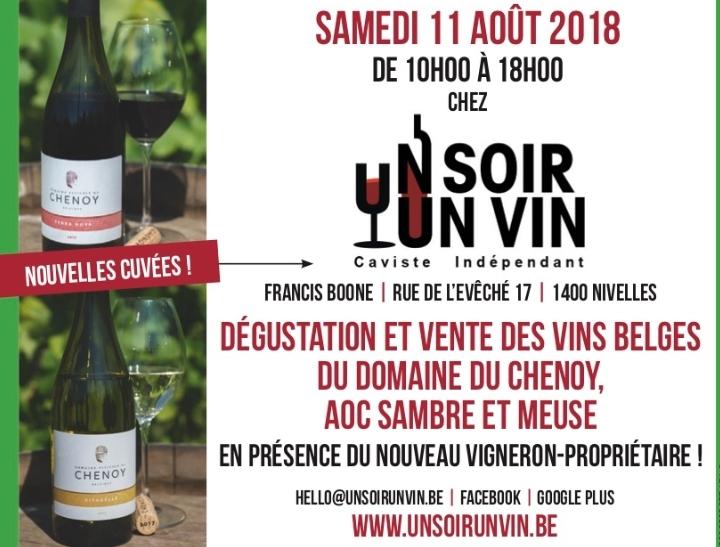 11 Août 2018 : Le Chenoy chez Un Soir Un Vin !