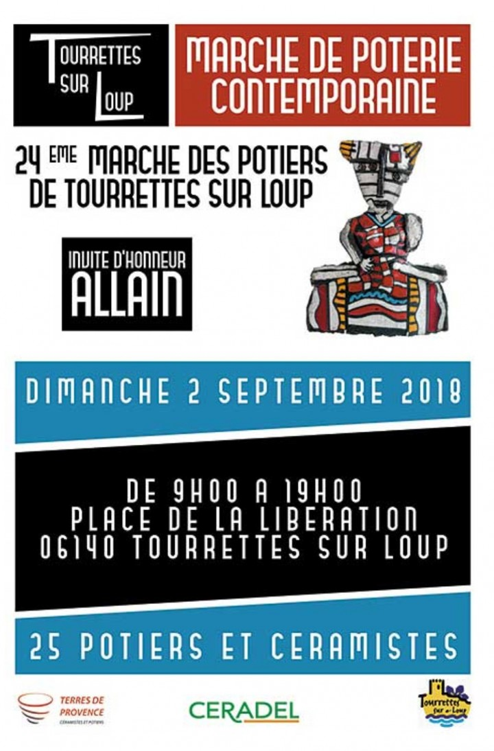 Marché Potier de Tourrettes sur Loup