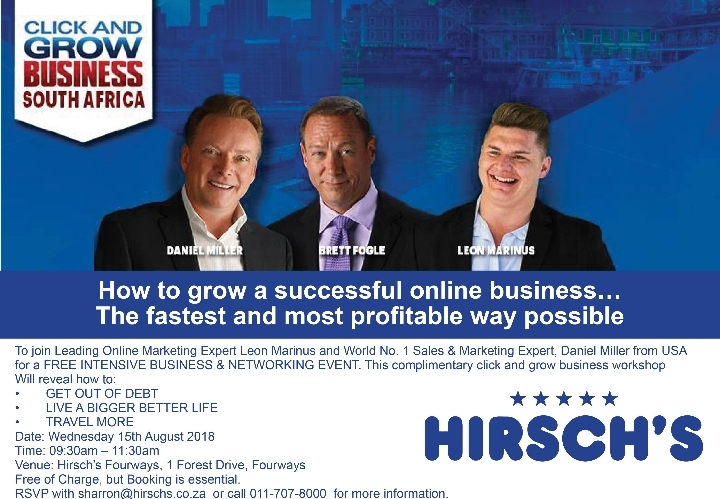 How to Grow an On Line Business at Hirschs Fourways
