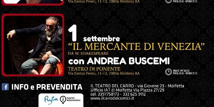 Il Mercante di Venezia con Andrea Buscemi   I