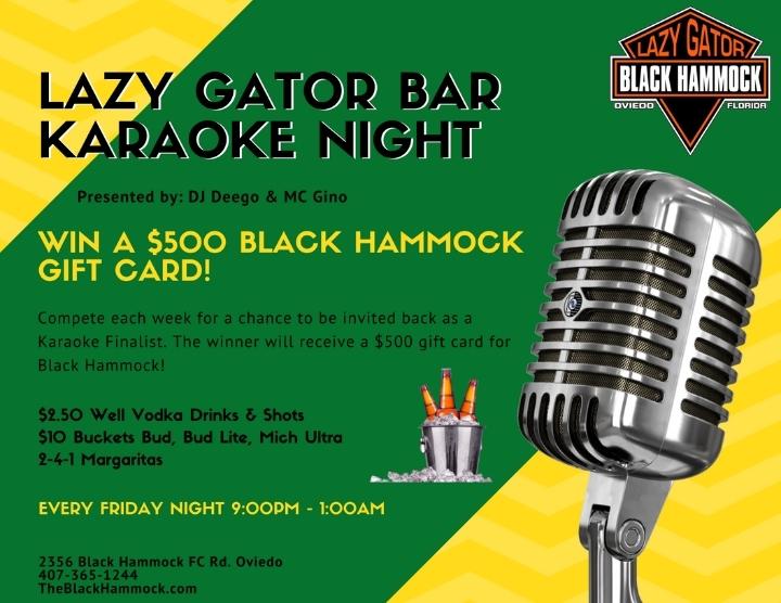 Karaoke Night At Black Hammock