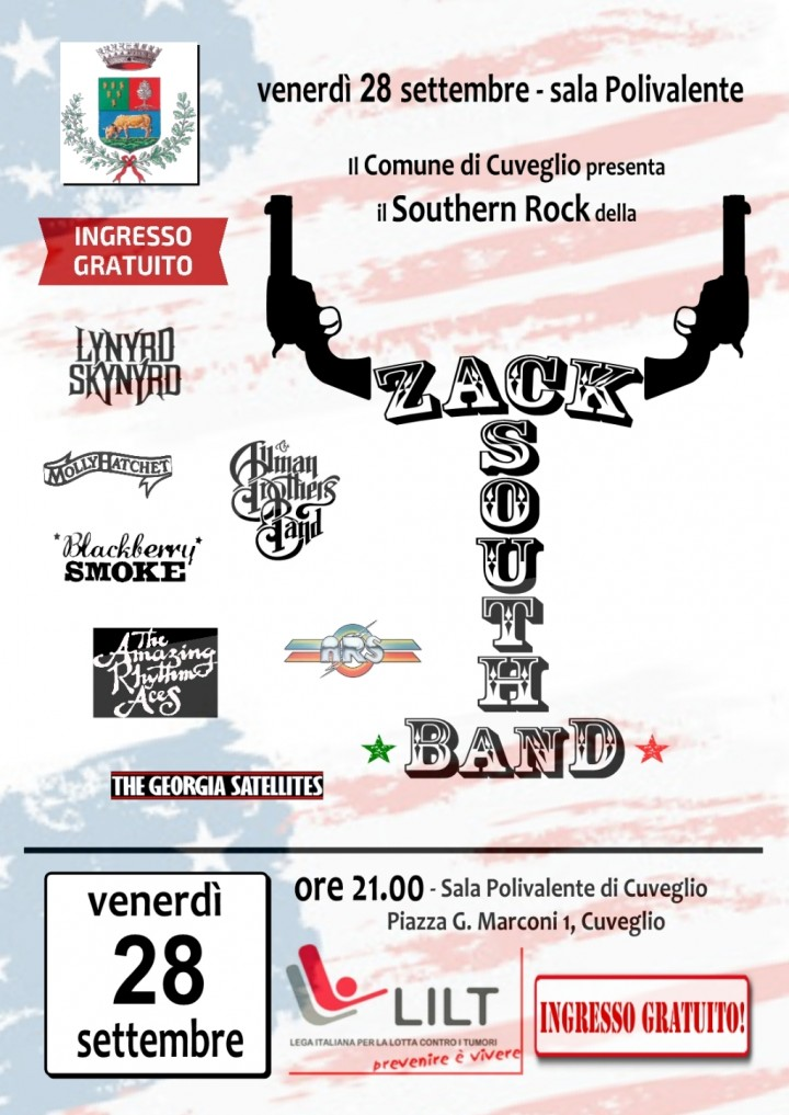 Zack South Band per la LILT, lega italiana lo