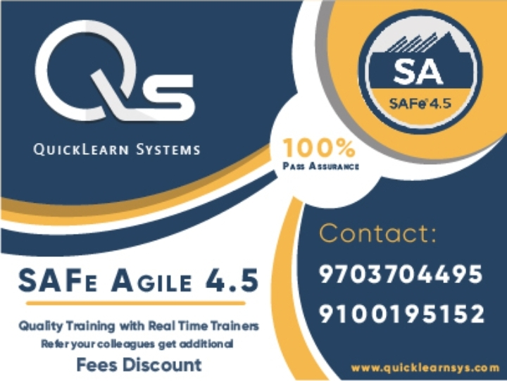Safe Agile Certification Training In Hyderabad On Sep 29 30 From