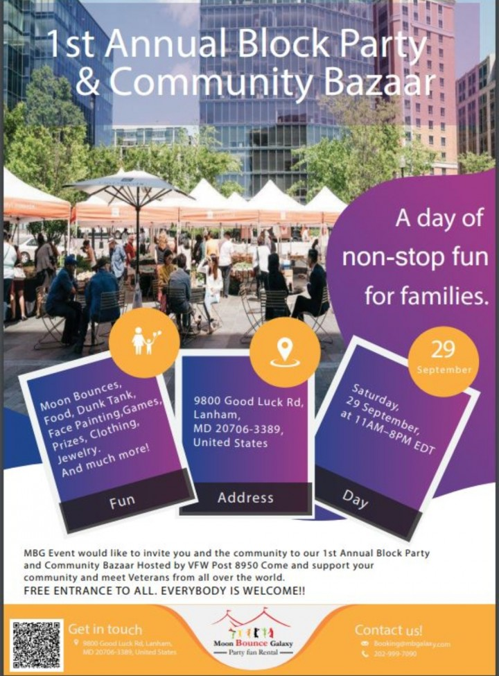 1st Annual Block Party and Community Bazaar