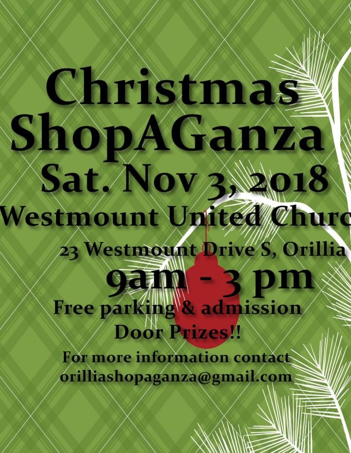 Orillia Christmas Shopaganza 2018