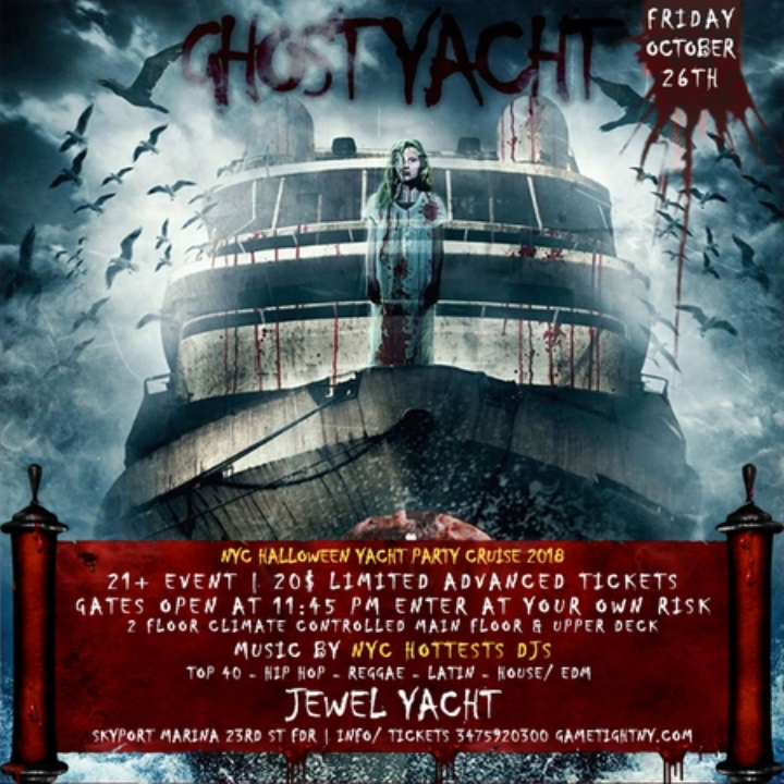 NYC Halloween Party Cruise at Skyport Marina Jewel Yacht 2018