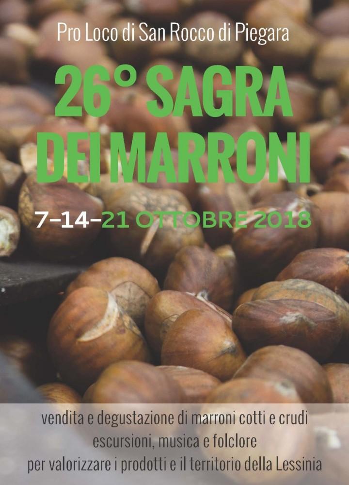 26° SAGRA DEI MARRONI 21 OTTOBRE 2018