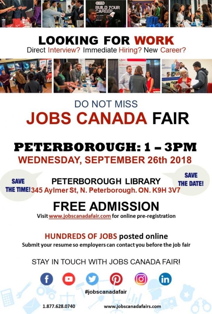 Peterborough Job Fair - September 26th, 2018