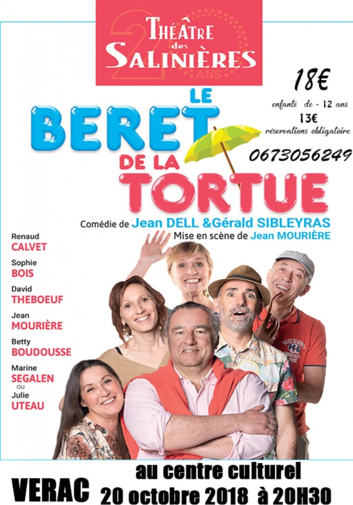 THEATRE - LE BERET DE LA TORTUE Comédie de Je