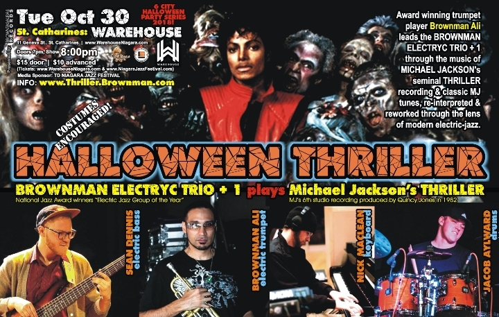 BROWNMAN's Halloween Thriller (St Catharines) - Michael Jackson as electric-jazz