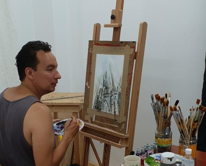 Teken- en schilderles