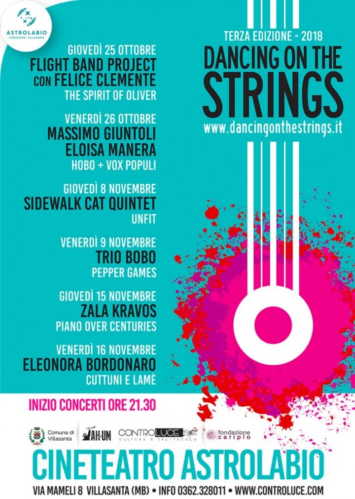 Dancing On The Strings: al via il 25/10, a Villasanta (Mb), la terza edizione tra jazz, classica, folk, suoni contemporanei e musiche di frontiera