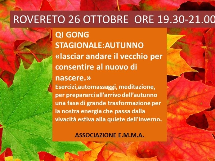 QI GONG STAGIONALE : AUTUNNO