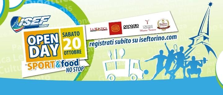 Open Day Isef Torino - sport & food no stop!