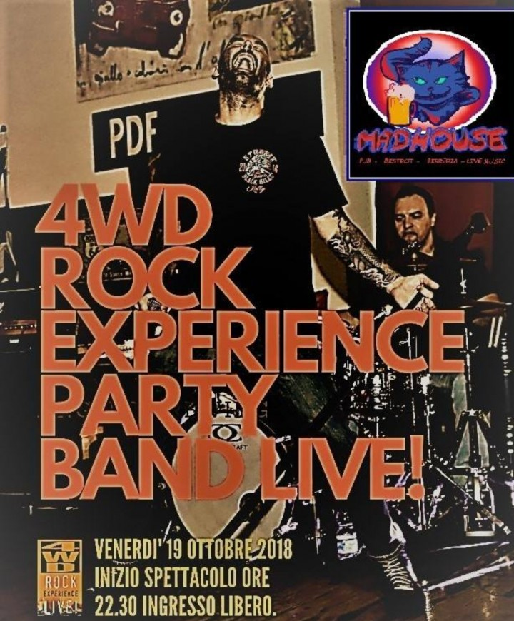 4WD Rock Experience Party Band Live@Madhouse Pub