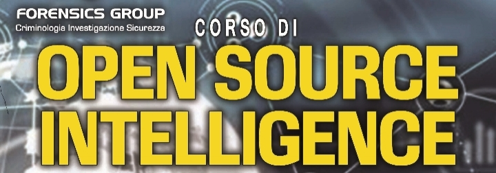 Corso Open Source Intelligence