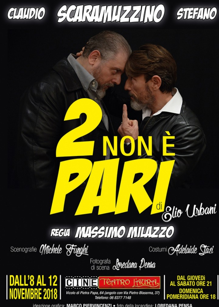 CineTeatro L'Aura- DUE NON È PARI -8/11 novem