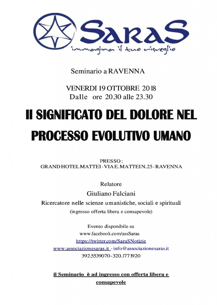 Seminario di Crescita Personale a Ravenna: il