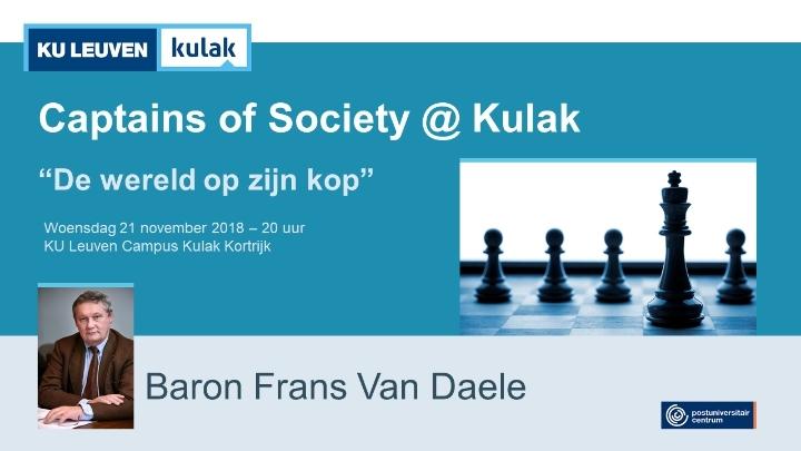 Captains of Society met baron Frans Van Daele