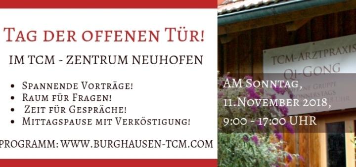 Tag der offenen Tür, im TCM Zentrum-Neuhofen