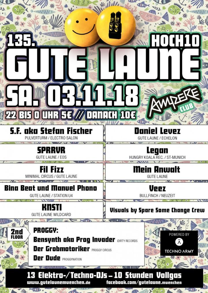 GUTE LAUNE mit 13 DJs - 10h lang