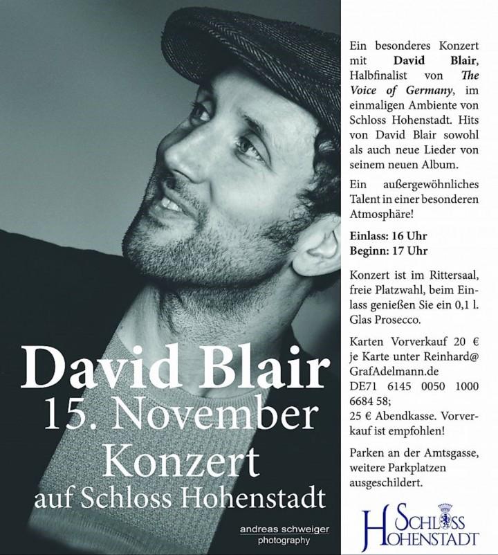 DAVID BLAIR Live @ Schloss Hohenstadt
