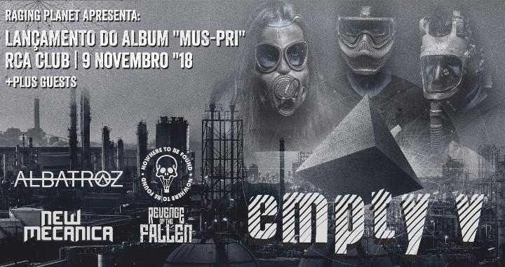 Empty v apresenta `Mus-Pri` + Bandas convidadas